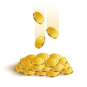 Monedas de oro juego eps banca bote