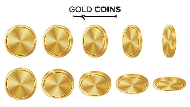 Monedas de oro vacías