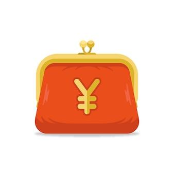 Monedero con símbolo de yen