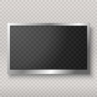 Monitor led plano de computadora o marco aislado
