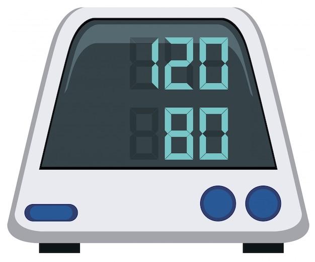 Monitor de presión arterial en el fondo blanco