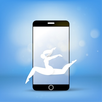 Monitor de teléfono celular ampliar concepto