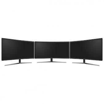 Monitor de tv de pantalla ancha maqueta