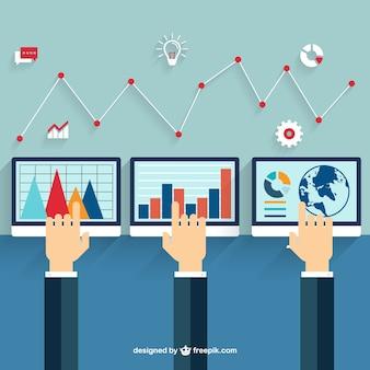 Monitores con diagrama