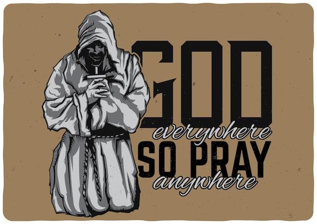Monje rezando