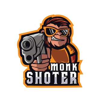 Monkshoter e sports logotipo
