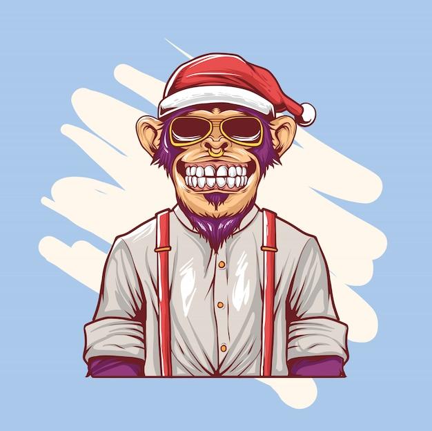 Mono bombo navidad