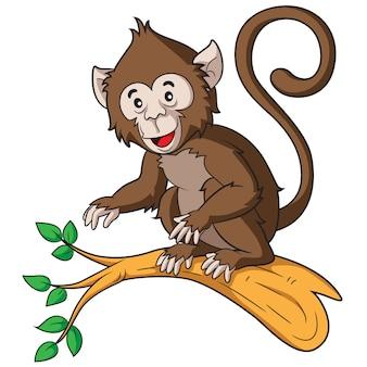Mono de dibujos animados