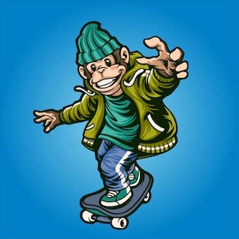 Mono patinador urbano
