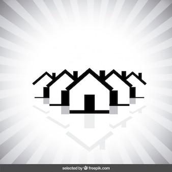 Monocromática logo inmobiliaria