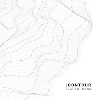 Monocromo abstracto colección de líneas de contorno