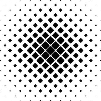 Monocromo cuadrado patrón de fondo - ilustración vectorial geométrica