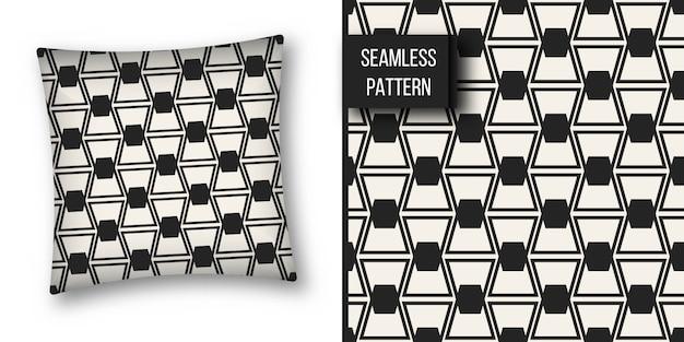 Monocromo geométrico de patrones sin fisuras