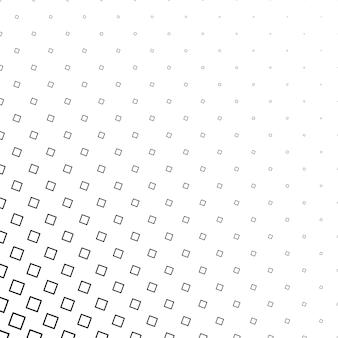 Monocromo resumen cuadrados patrón de fondo - diseño vectorial