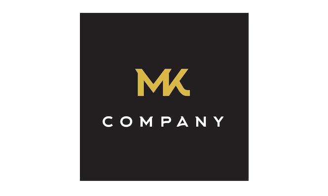 Monogram / initials mk logo design inspiration