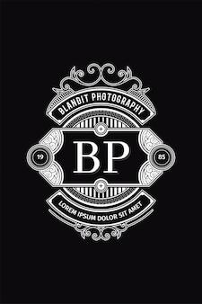 Monograma logo fotografia bp