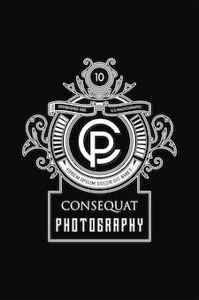 Monograma logo fotografia cp
