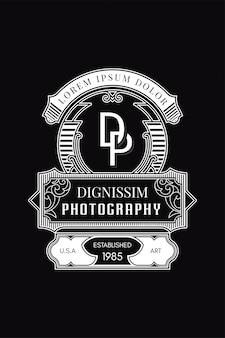 Monograma logo fotografia dp