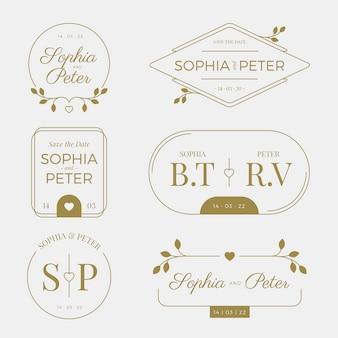 Monogramas de boda con clase