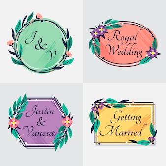 Monogramas de boda de estilo elegante