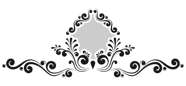 Monogramas decorativos vintage y bordes caligráficos. señalización de plantilla, logotipos, etiquetas, pegatinas, tarjetas. página de diseño gráfico. elementos de diseño clásico para invitaciones de boda.