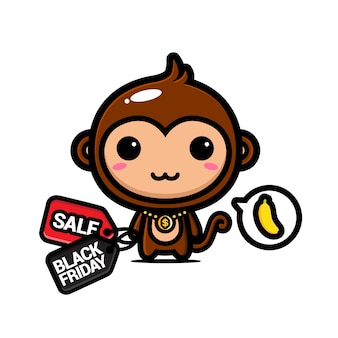 Monos lindos con cupones de descuento del viernes negro