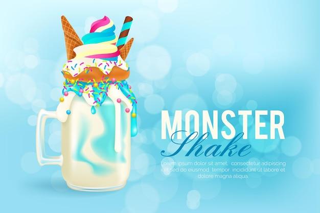 Monster sacude el tema de fondo