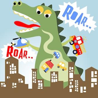 Monstruo ataca la ciudad