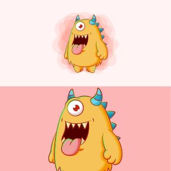 Monstruo de dibujos animados lindo