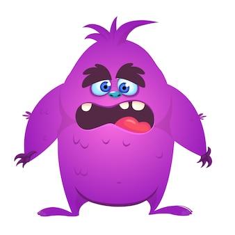 Monstruo de dibujos animados de miedo. ilustración vectorial para halloween