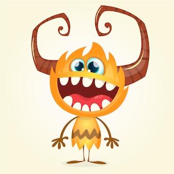 Monstruo de divertidos dibujos animados. festividad de todos los santos