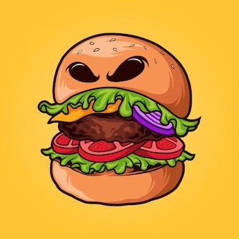 Monstruo hamburguesa