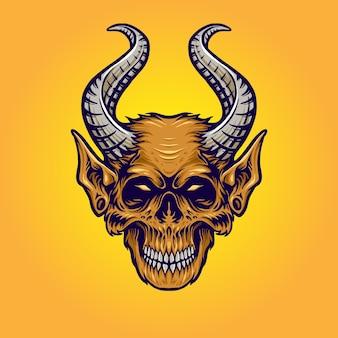 Monstruo con ilustración de cuerno