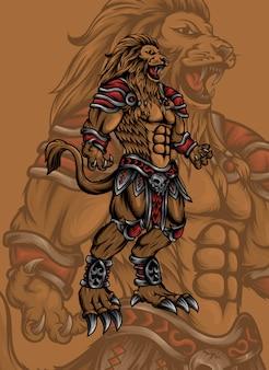 Monstruo león de pie