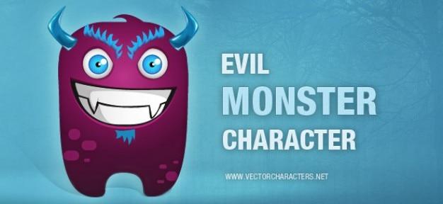 Monstruo malvado personaje ilustración