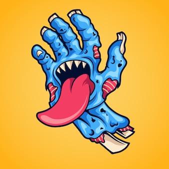 Monstruo de mano zombie
