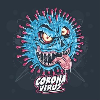 Monstruo de virus de corona