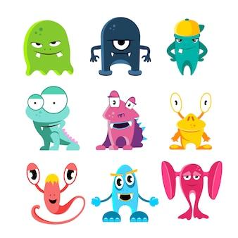Monstruos de dibujos animados lindo