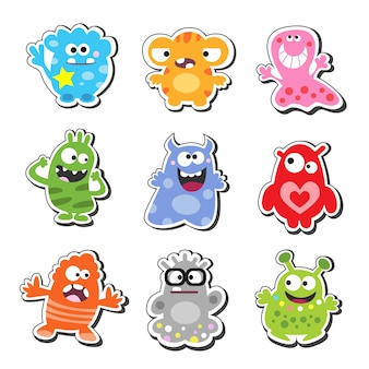 Monstruos de dibujos animados