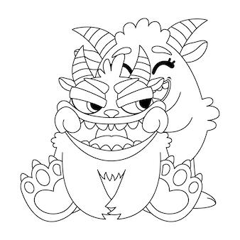 Monstruos lindos dibujan una sonrisa.