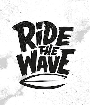 Monta la ola. gráficos de citas de surf