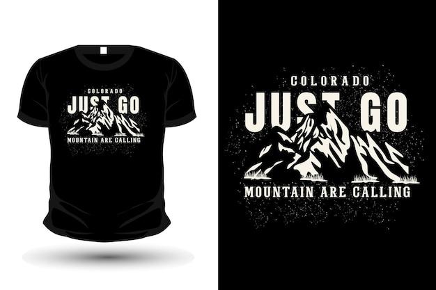 La montaña está llamando diseño de camiseta de tipografía.
