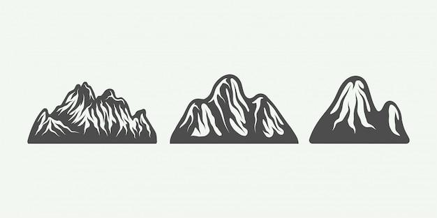 Montañas retro vintage
