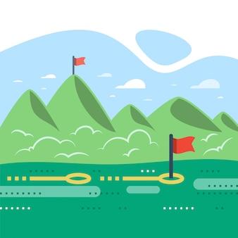 Montañas de verano, camino al éxito