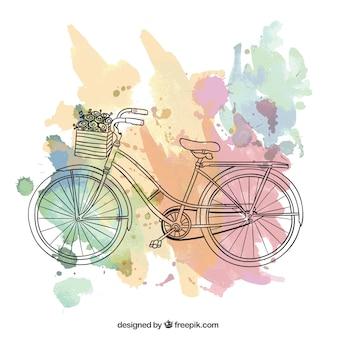 Montar en bicicleta, postal vintage