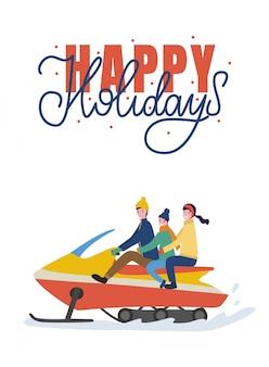 Montar vacaciones familiares en motos de nieve