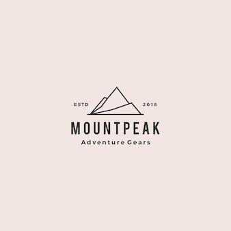 Monte el logotipo de montaña pico