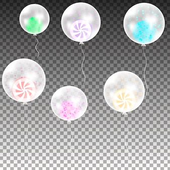 Montón de globos. flying mega set de globos de colores. decoración de fiesta para cumpleaños, aniversario, celebración, evento.