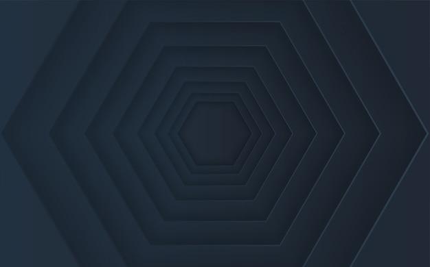 Montón de hexágonos abstractos con efectos de sombra.