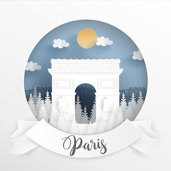 Monumento famoso mundial de parís, francia